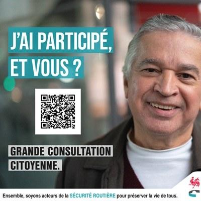 Consultation citoyenne :  Soyez acteur de la sécurité routière