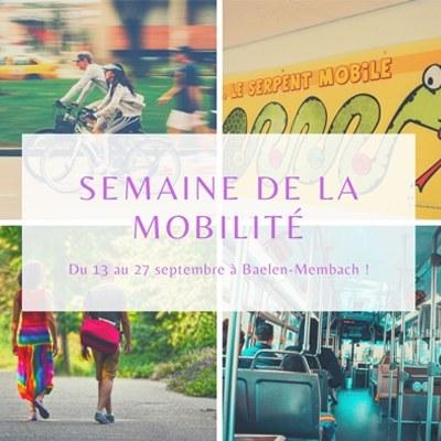 Semaine de la mobilité du 13 au 27 septembre 2020